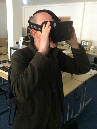Me trying out the Oculus